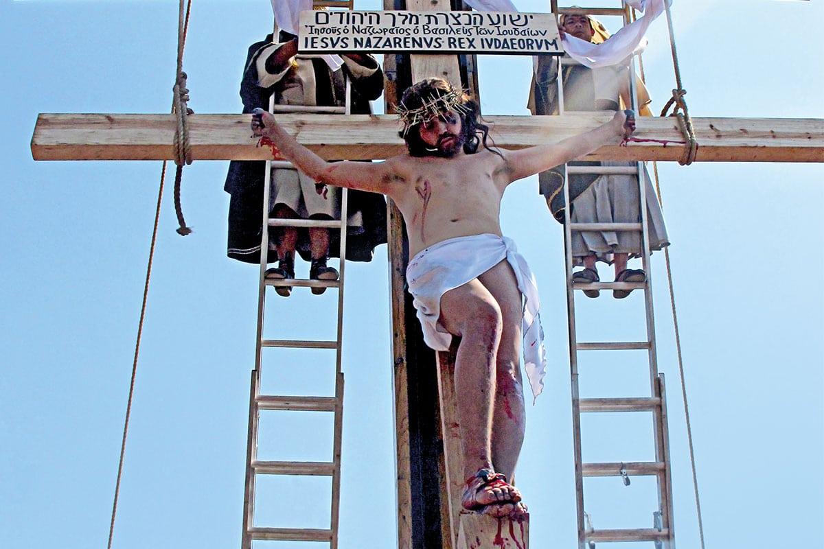 El Viacrucis en Iztapalapa. Foto: Lorena Esteban