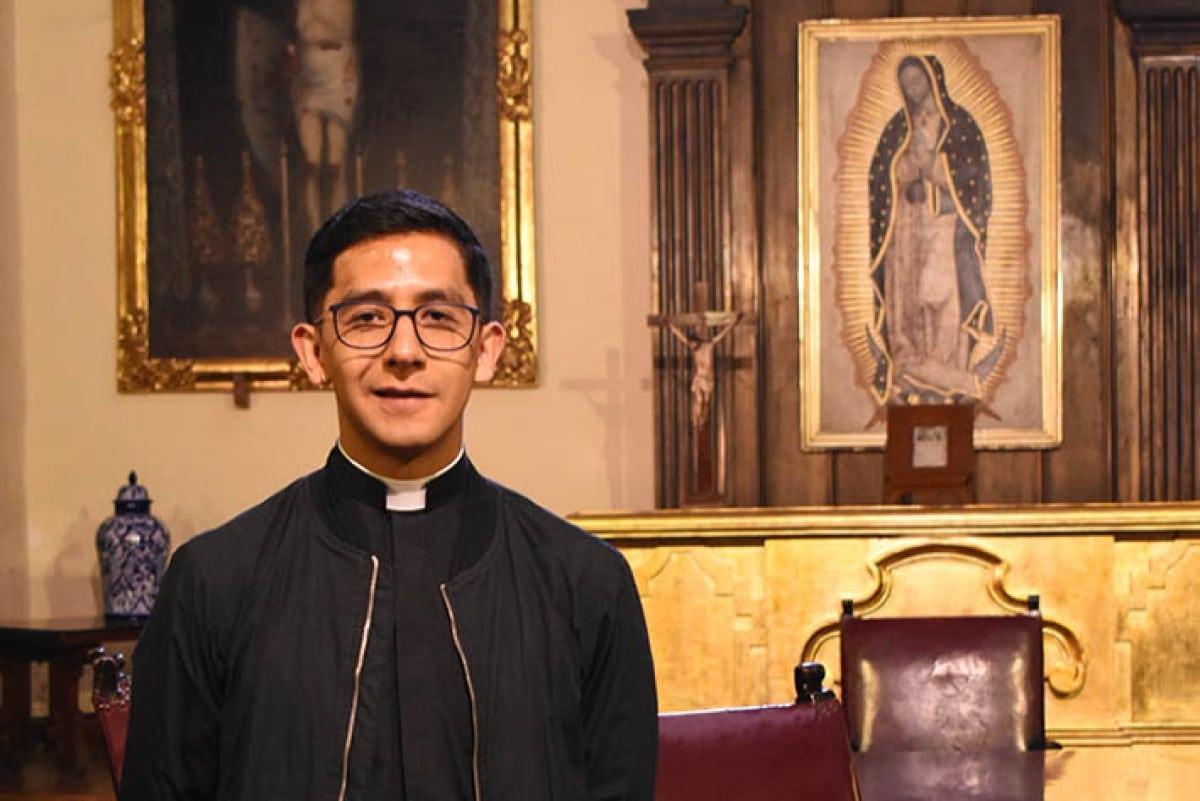 Josué Bernal, diácono próximo a ordenación sacerdotal. Foto: Ricardo Sánchez