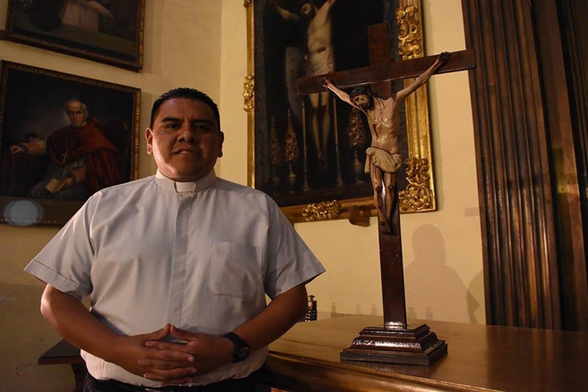 David Salazar Nieto a pocos días de su ordenación sacerdotal en 2019. Foto: Ricardo Sánchez.