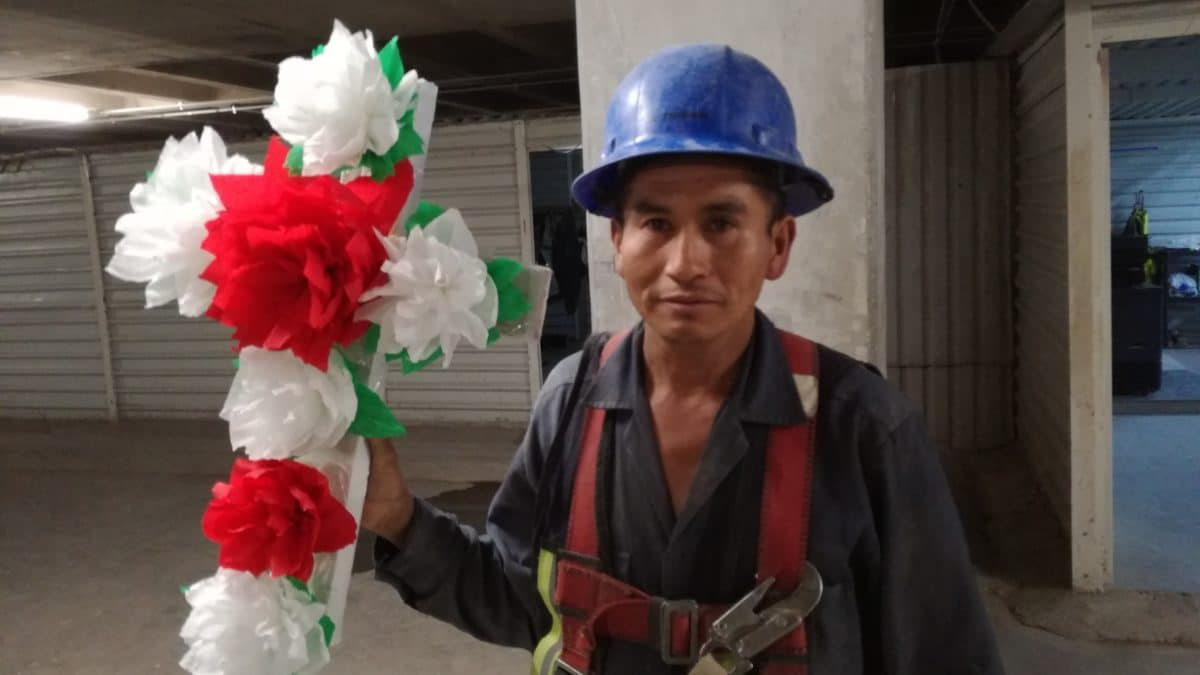 Los trabajadores de la construcción han hecho suya esta celebración.