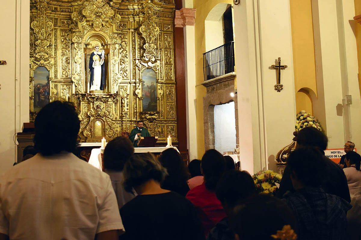El retablo es uno de los elementos más representativos del templo de San Jacinto.