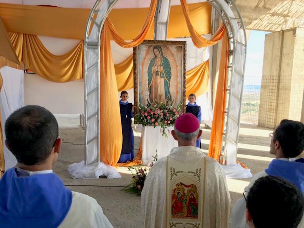 La imagen de la Virgen de Guadalupe en Brasil.