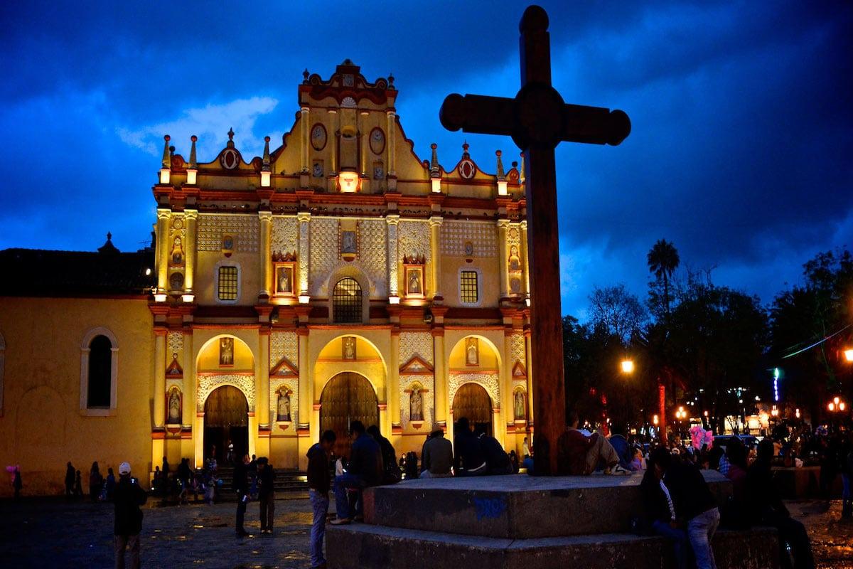La Catedral de San Cristóbal Mártir. Foto: Ayuntamiento de San Cristóbal de las Casas