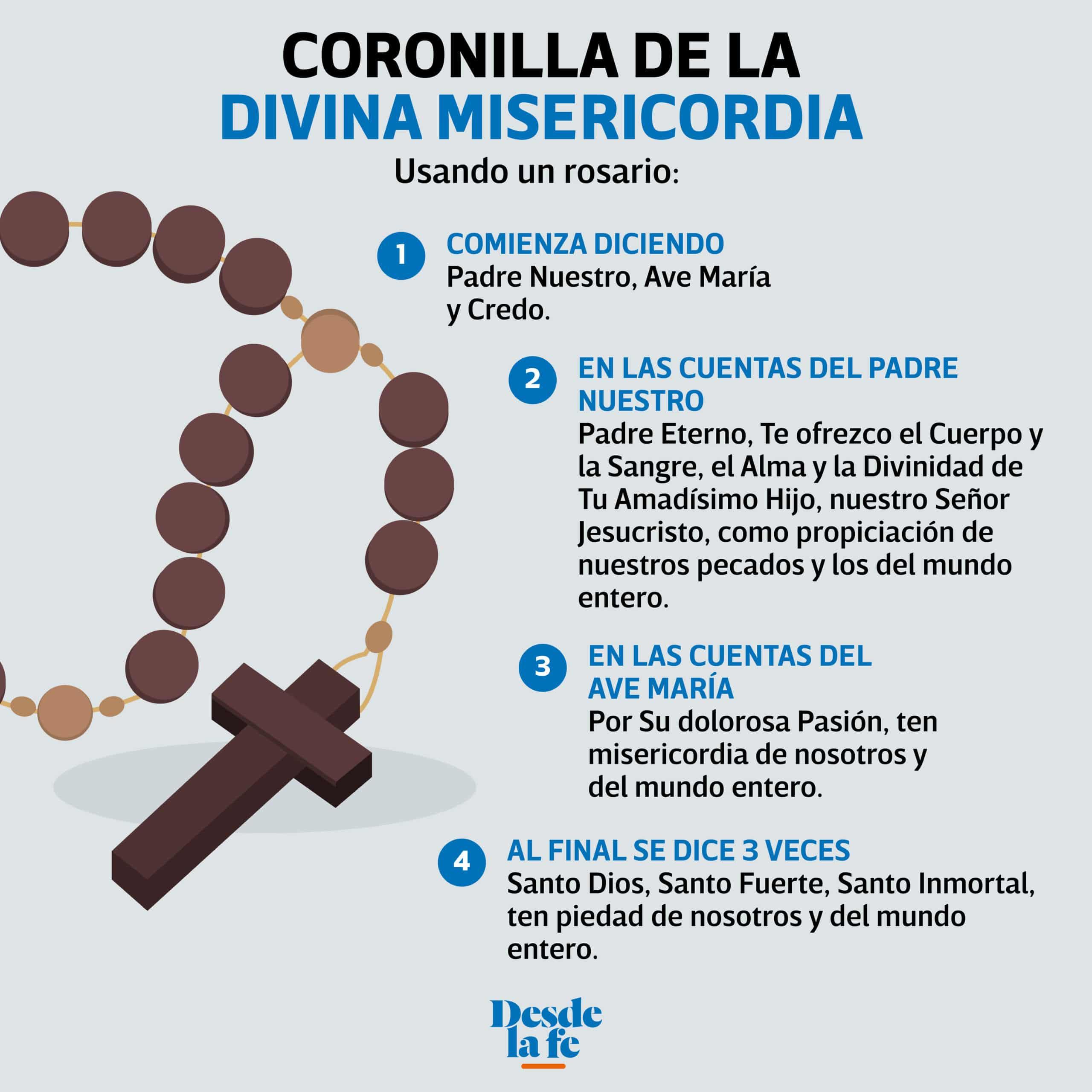 Coronilla De La Divina Misericordia Cómo Rezar La Coronilla Paso A Paso