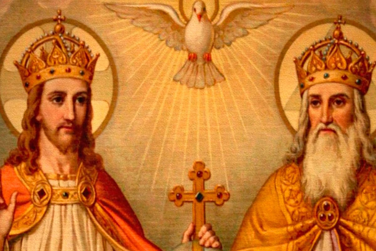 La Santísima Trinidad. Padre, Hijo y Espíritu Santo.Foto: Especial