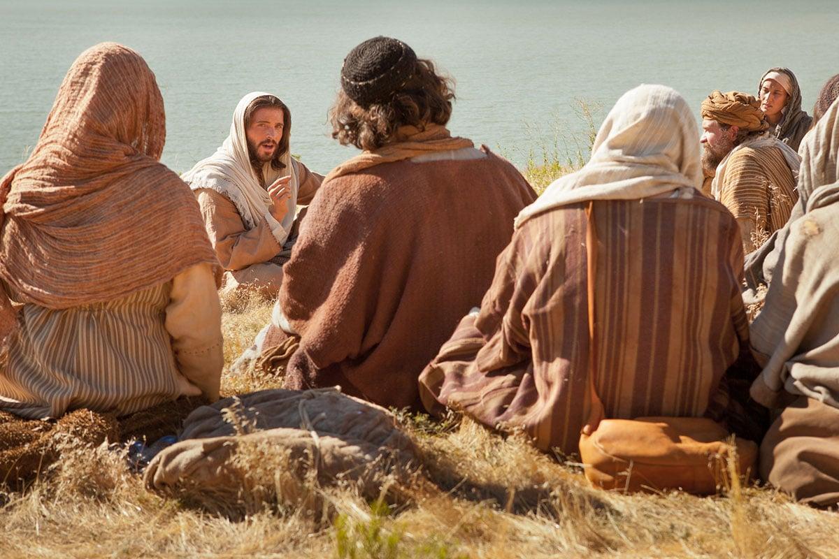 Jesús con los apóstoles.