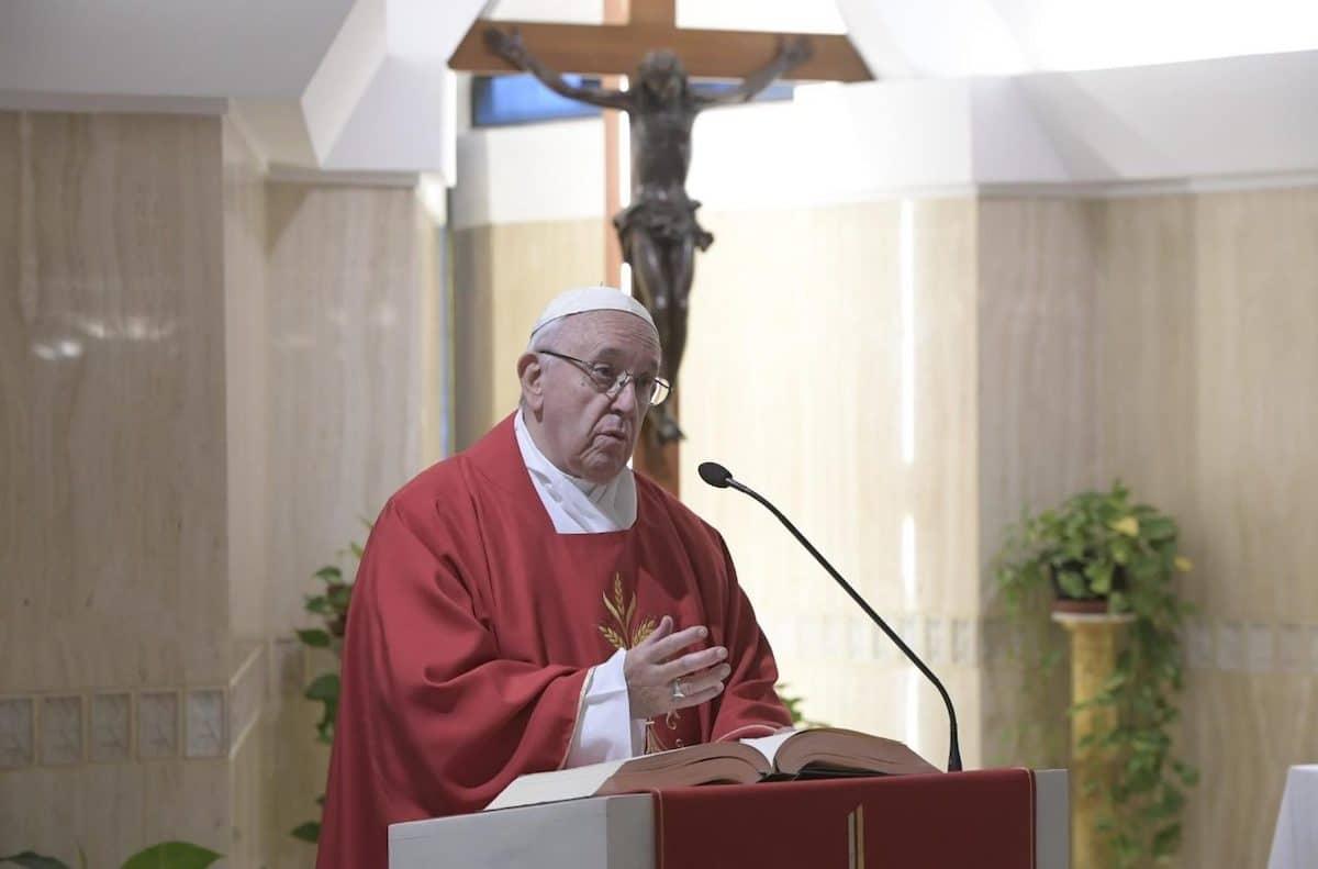 El Papa Francisco en la Capilla de la Casa Santa Marta