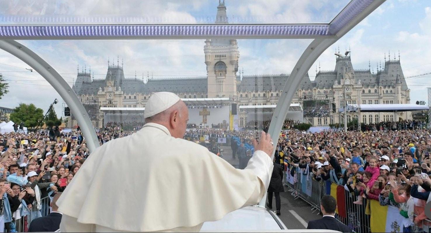 Papa pidió a rumanos no olvidar sus raíces. Foto Vatican Media