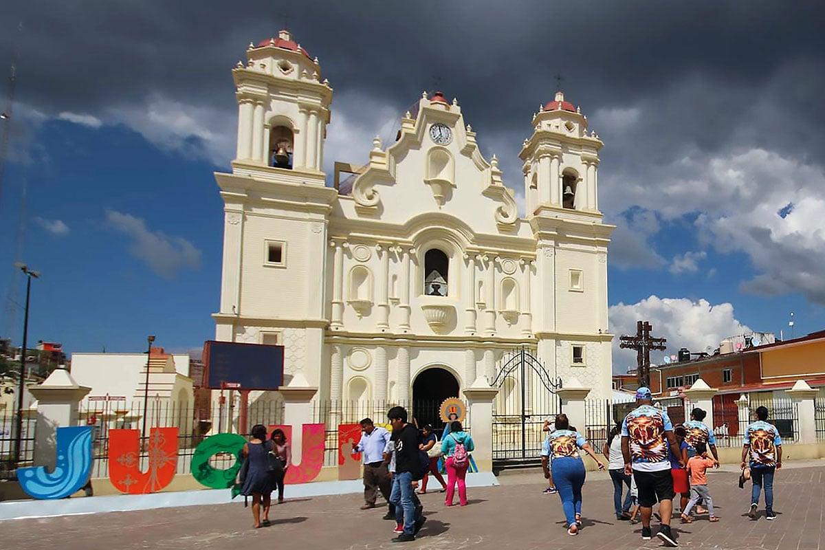 El santuario de la Virgen de Juquila, en Oaxaca.