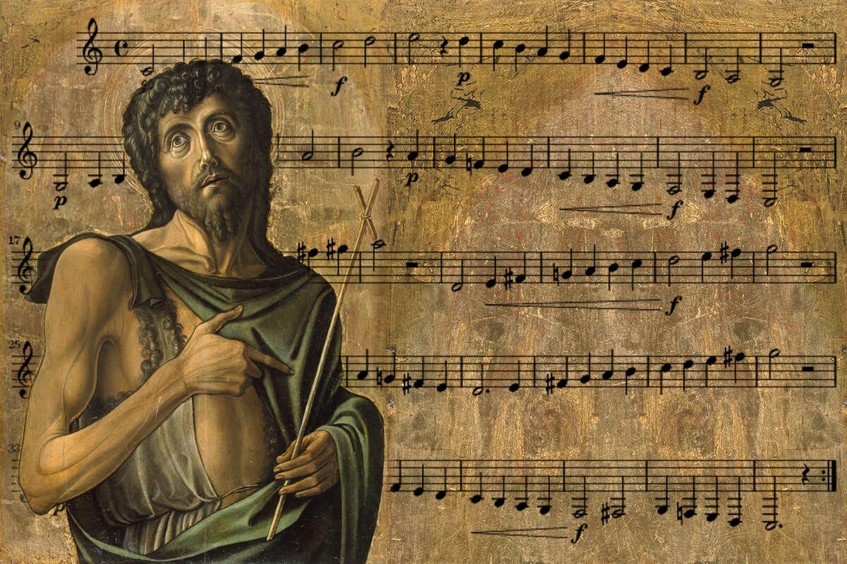 El Himno a San Juan Bautista ayudó a nombrar las notas musicales.