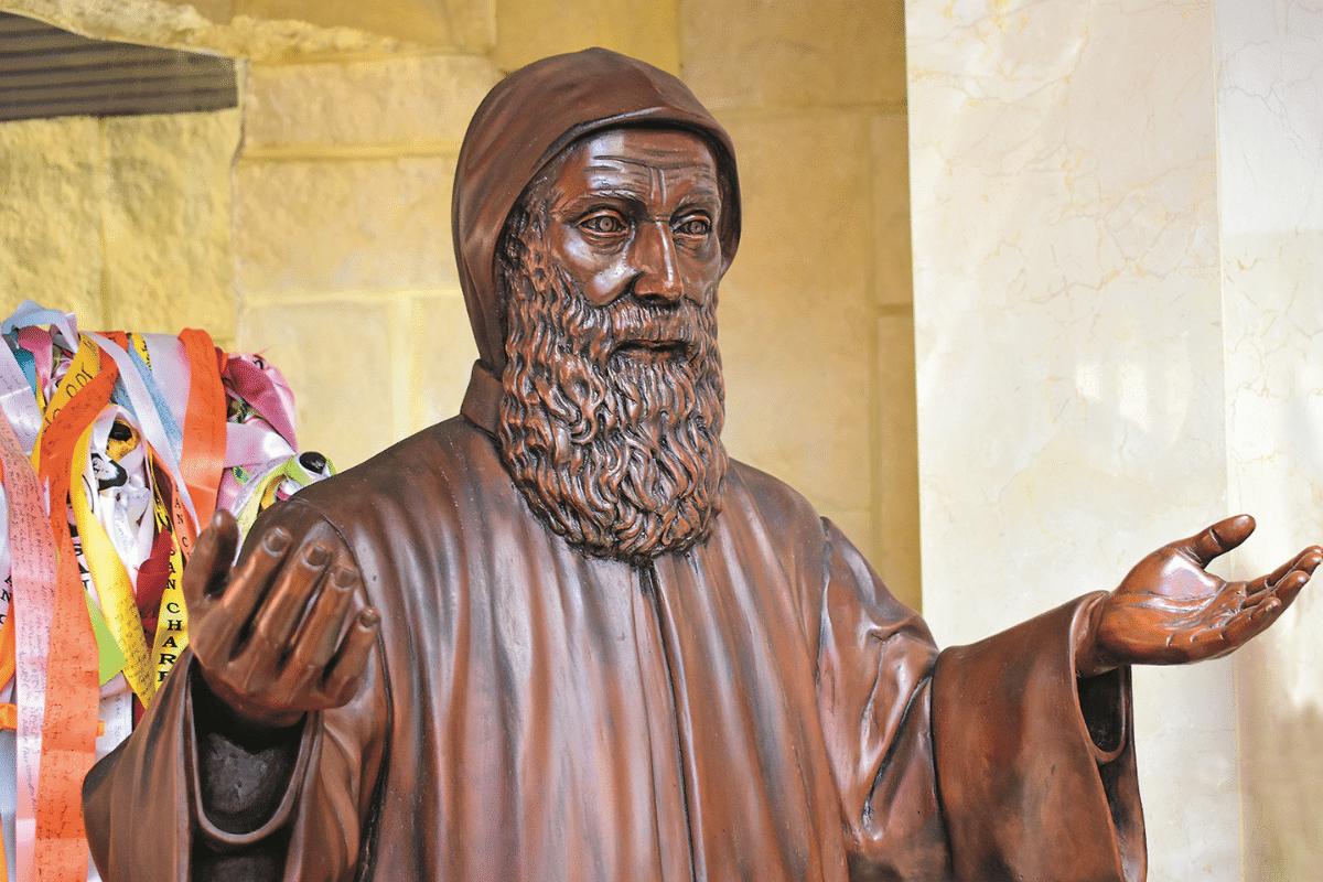 San Charbel es el patrono de los que sufren en cuerpo y alma.