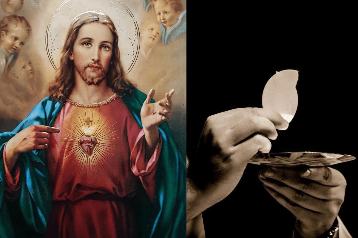 La devoción de los nueve primeros viernes y el Sagrado Corazón de Jesús.