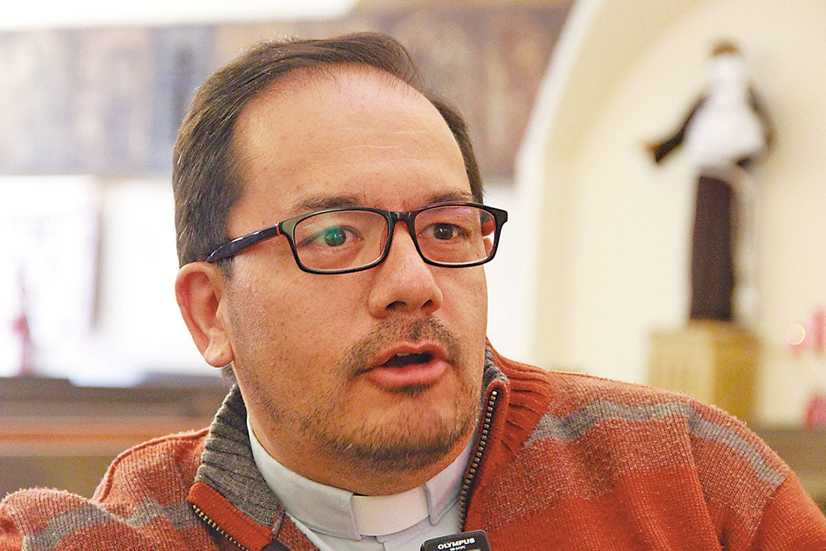 El padre Jorge Luis Pancich, párroco de la unidad pastoral.