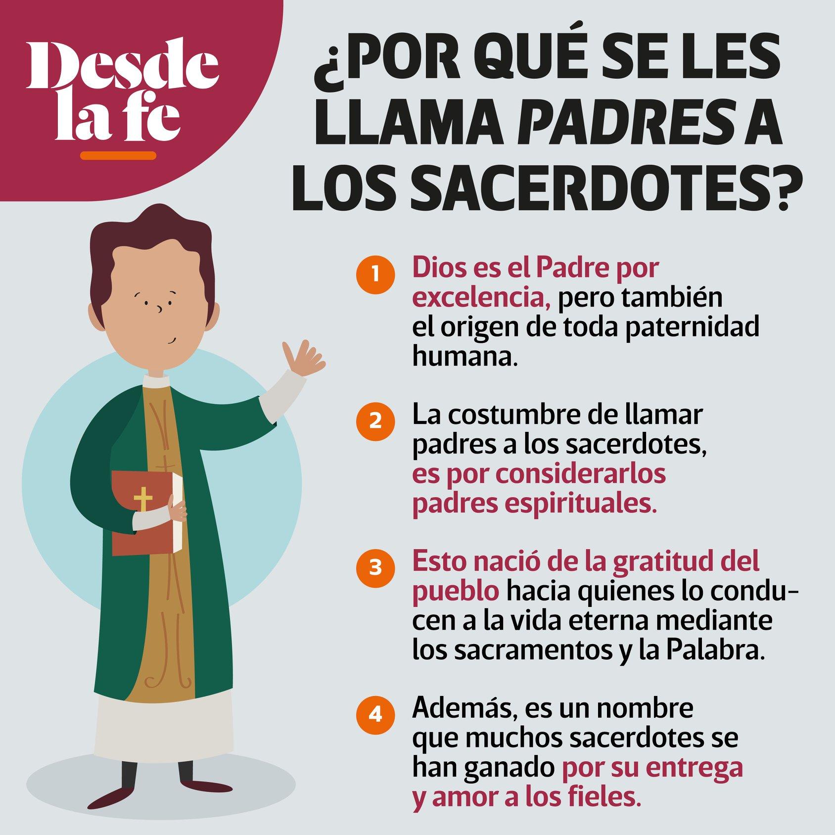 ¿Por qué les decimos padres a los sacerdotes?