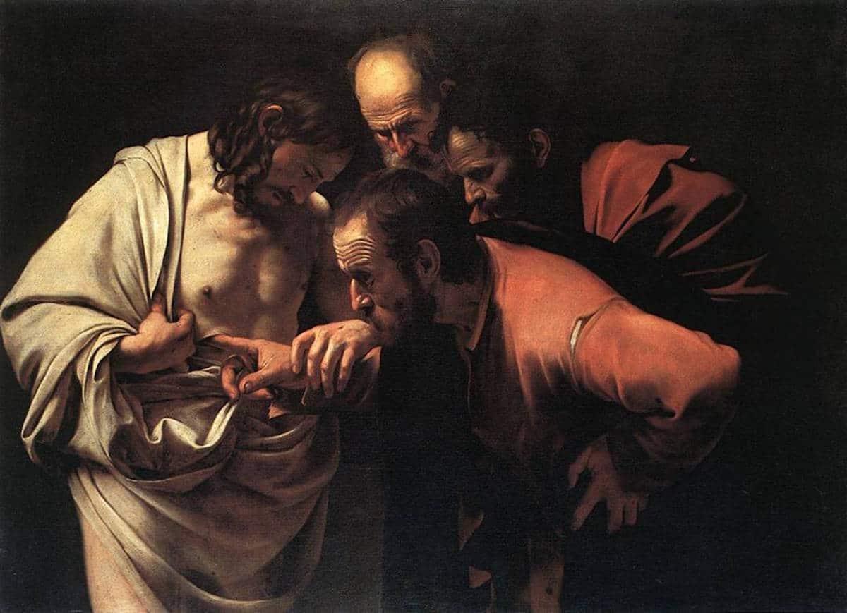 La incredulidad de Santo Tomás, Cuadro de Caravaggio.