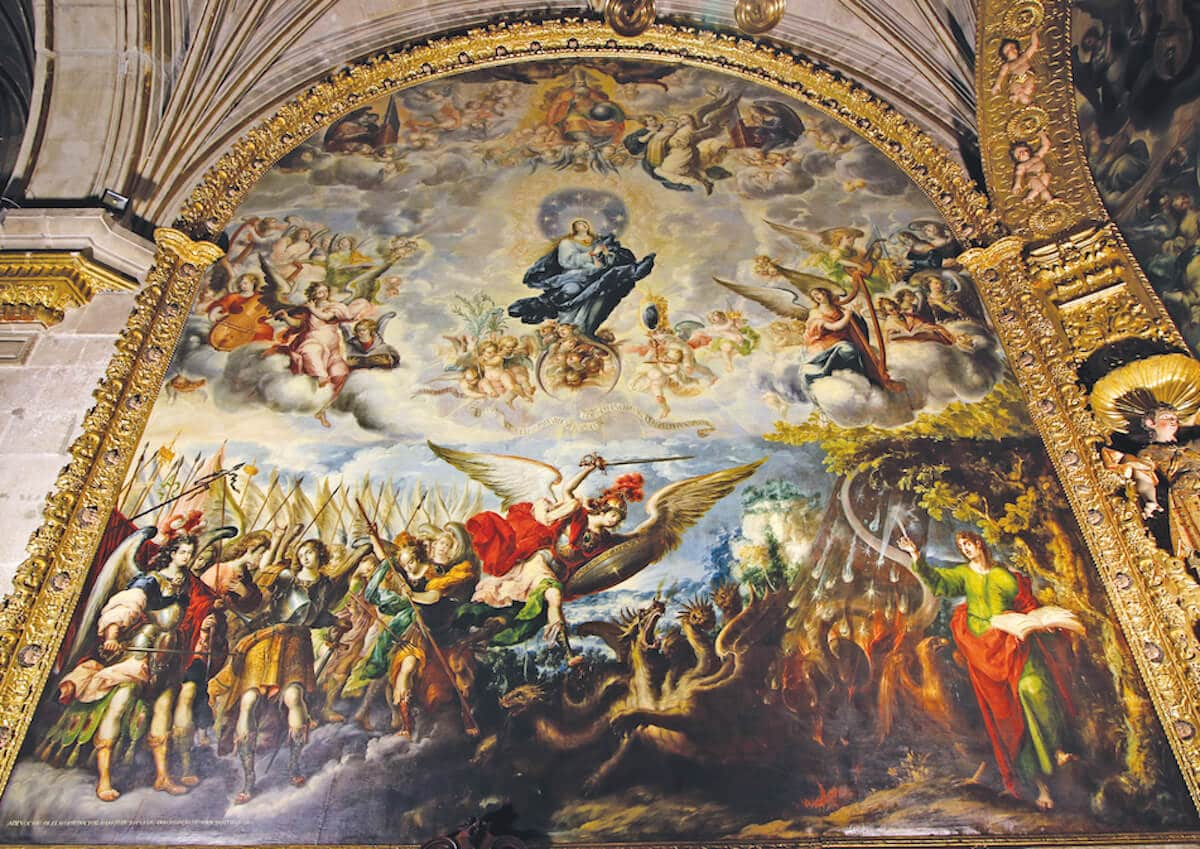 La Asunción de la Virgen, realizada por Juan Correa en 1689. Foto: Enrique Murgíua/Catedral de México