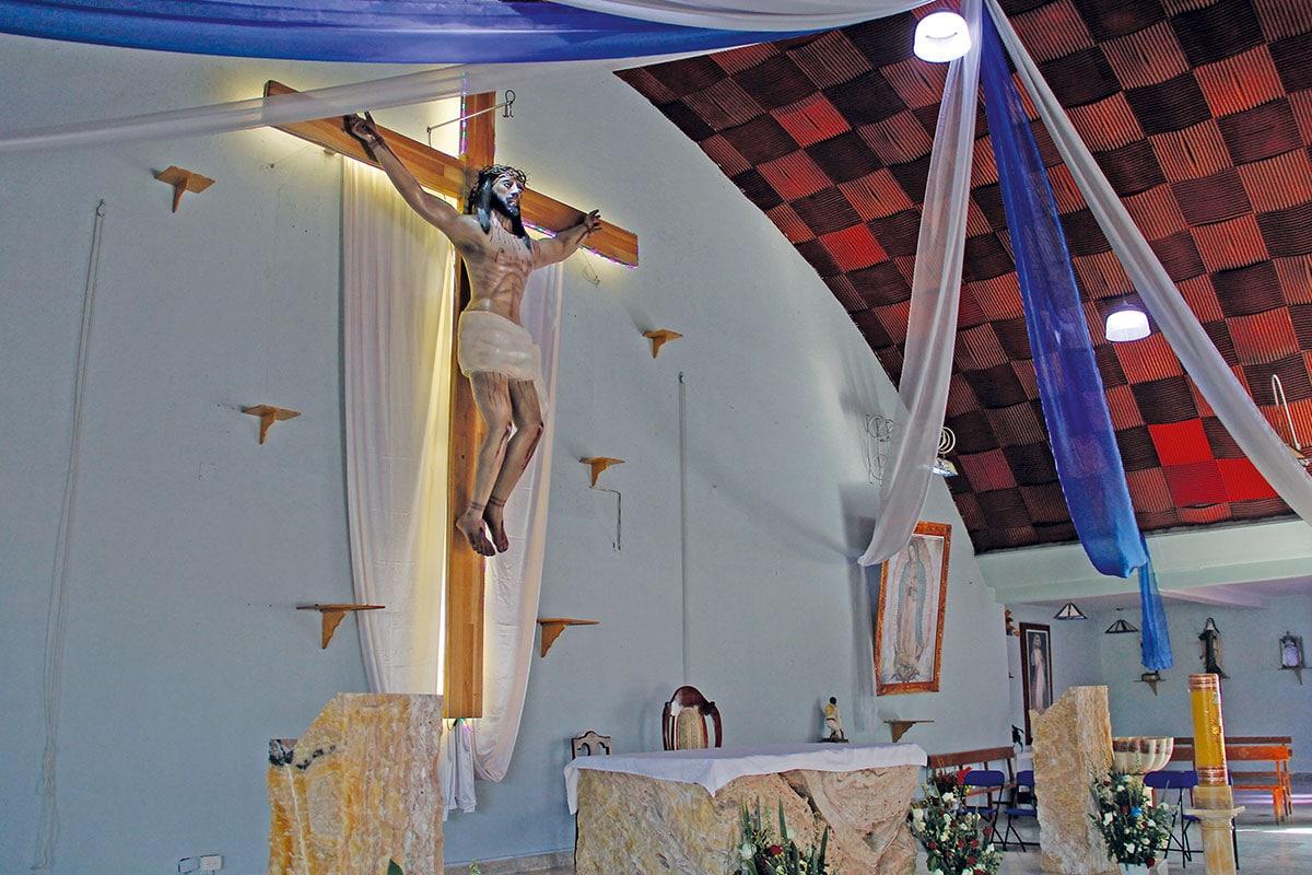 La imagen del Cristo de la Salud está en la parroquia San Martín Obispo de Tours. Foto: Alejandro García