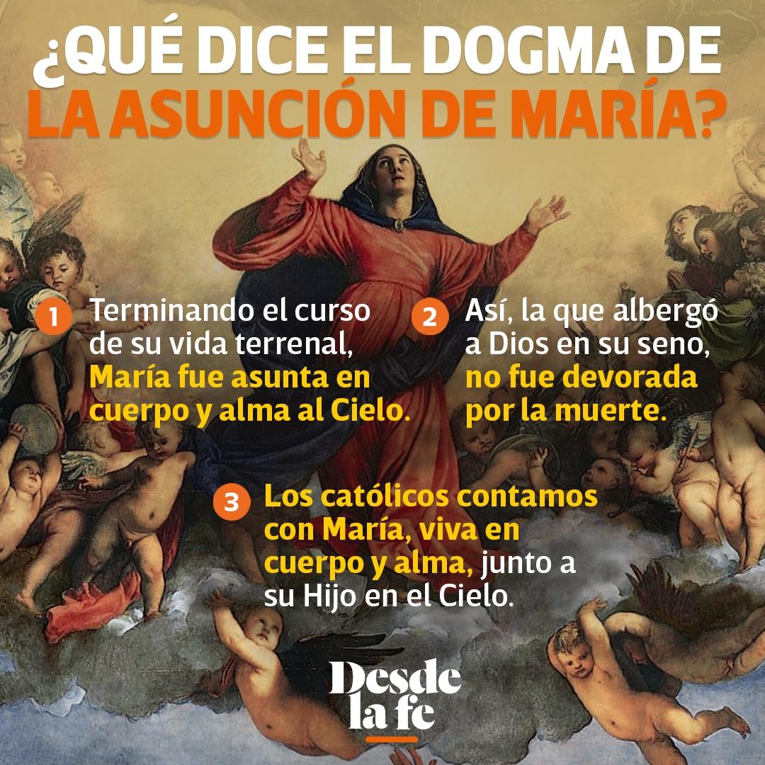 ¿Qué dice el dogma de la Asunción de María?
