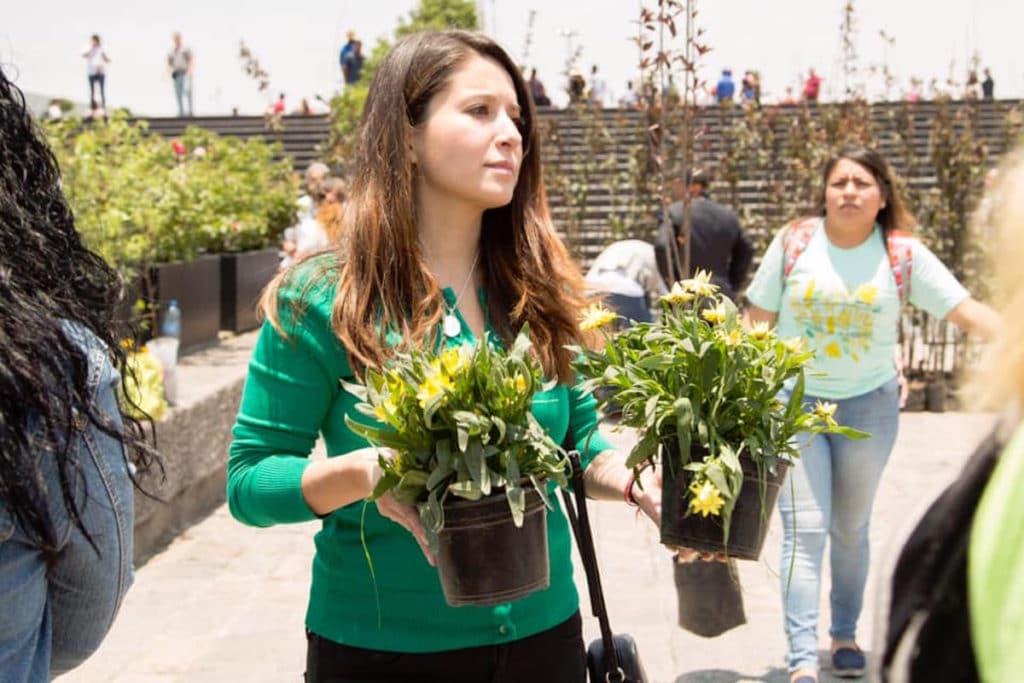 Acciones ecológicas en la Basílica de Guadalupe. Foto María Langarica