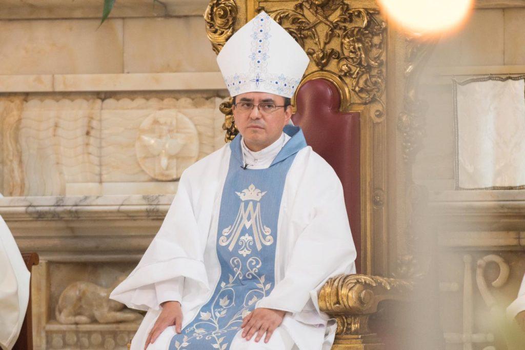 Monseñor Salvador González, Obispo Auxiliar de la Arquidiócesis de México. Foto: María Langarica