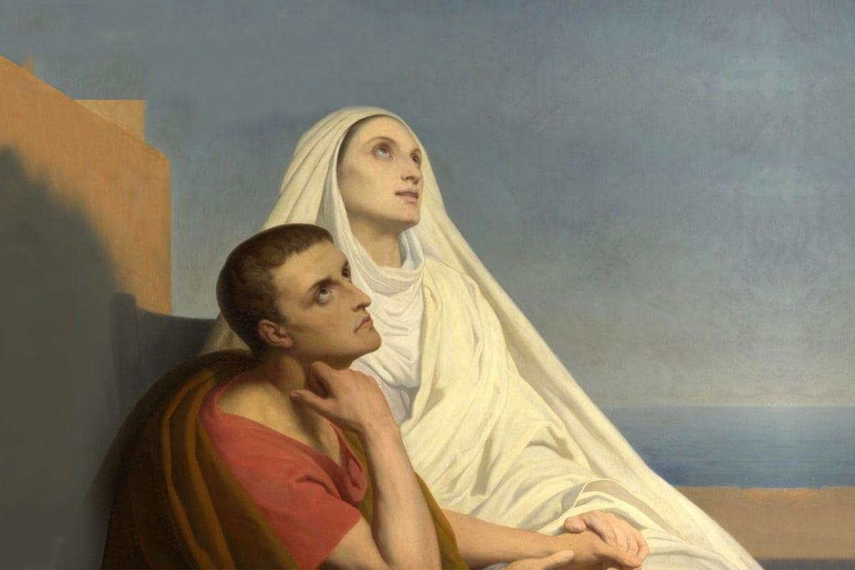 San Agustín y Santa Mónica, autor desconocido