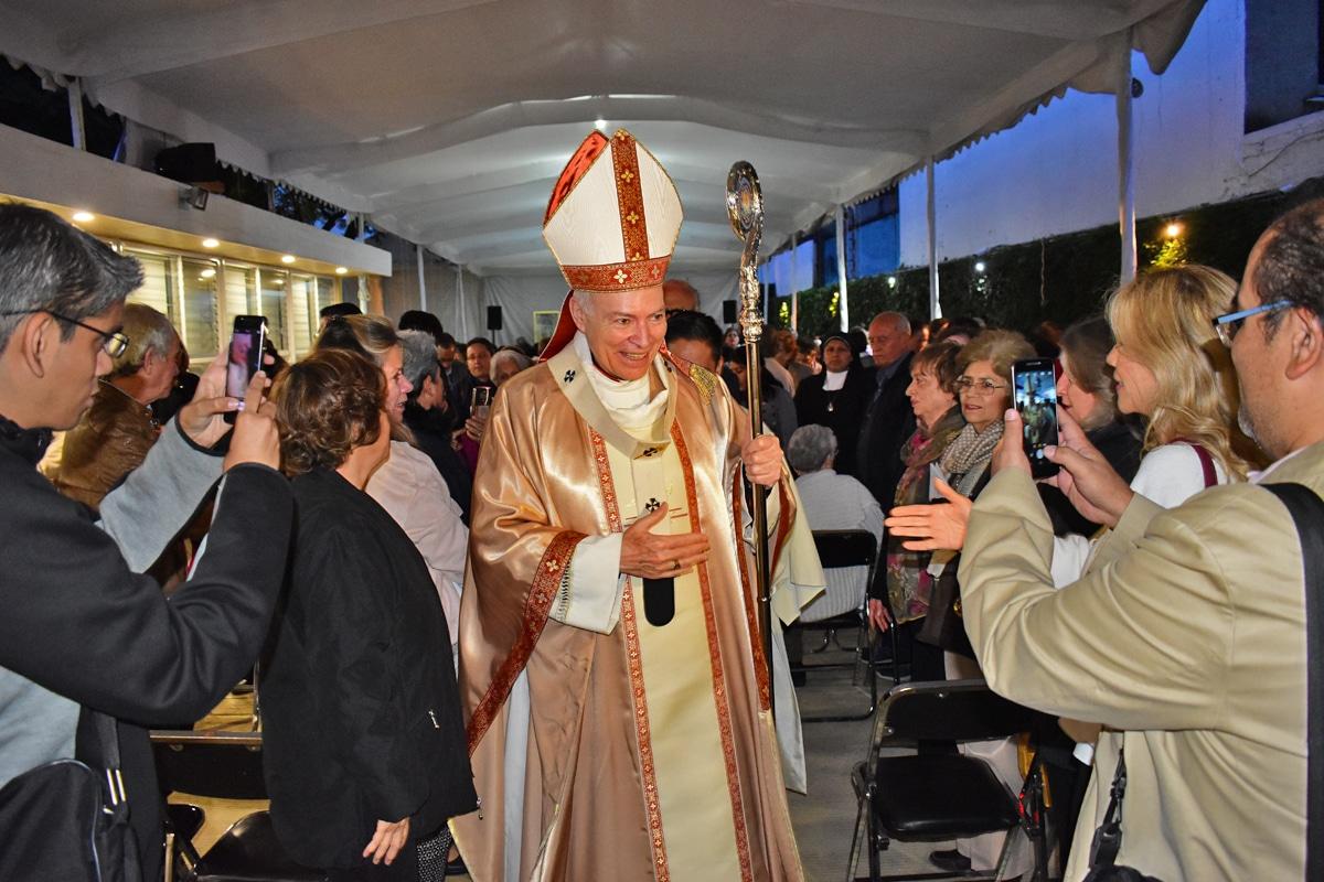 El Cardenal Aguiar en el Instituto de Pastoral Bíblica Salvador Carrillo Alday. Foto: Ricardo Sánchez