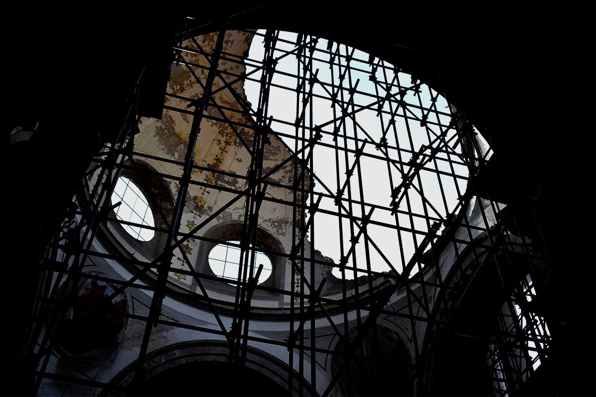 Iglesia de Nuestra Señora de los Ángeles aún no restaurada. Foto: Ricardo Sánchez