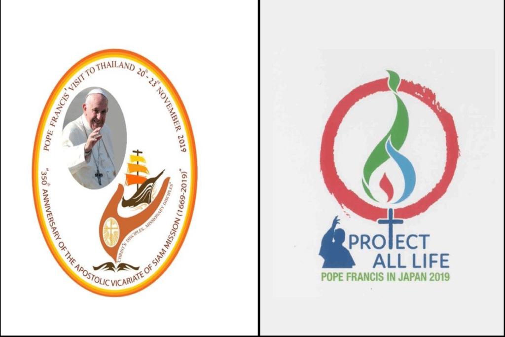 Logotipos del viaje apostólico a Tailandia y Japón. Foto Vatican Media