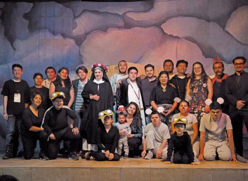 El teatro unió a los fieles de esta parroquia en Azcapotzalco