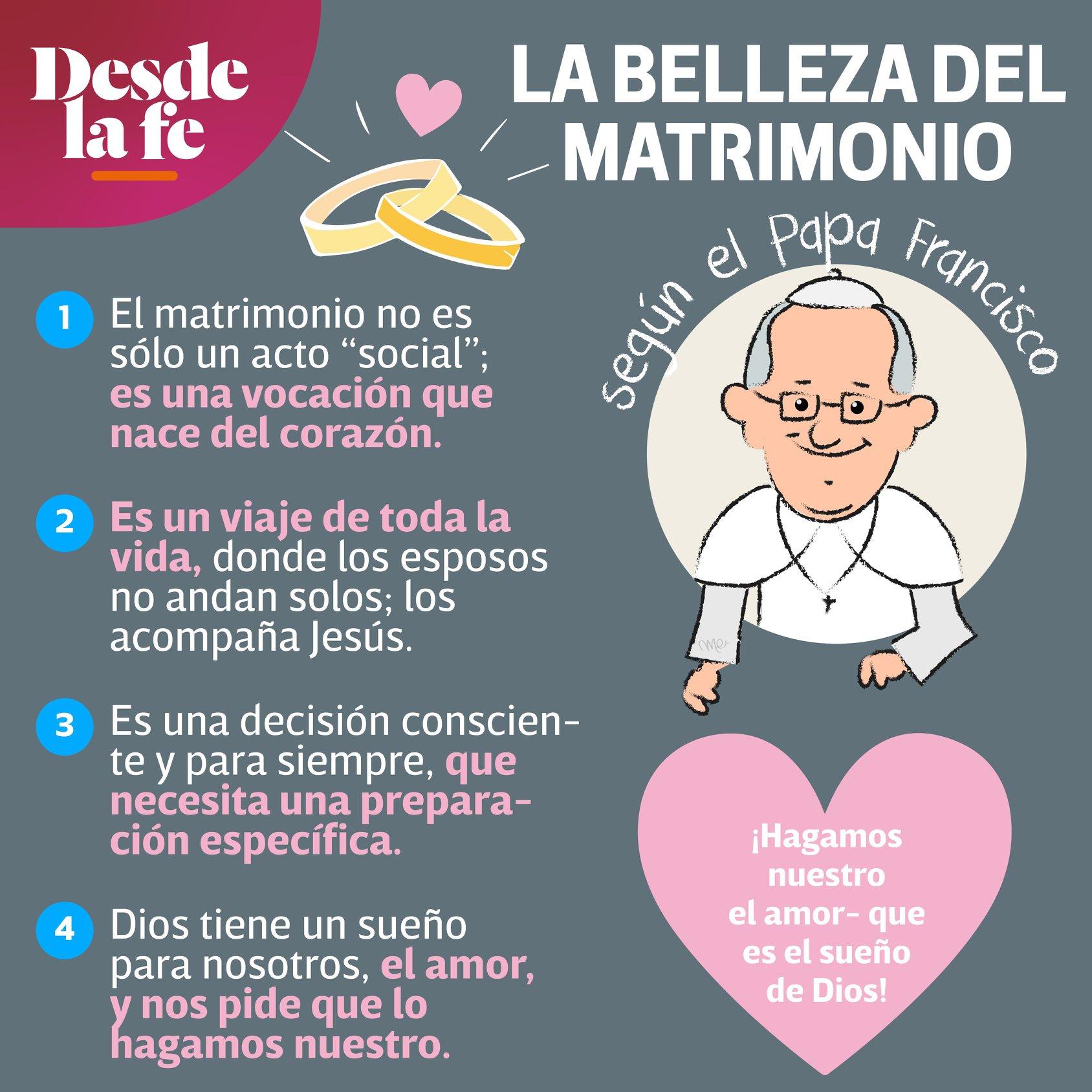 La belleza del Matrimonio, según el Papa Francisco.