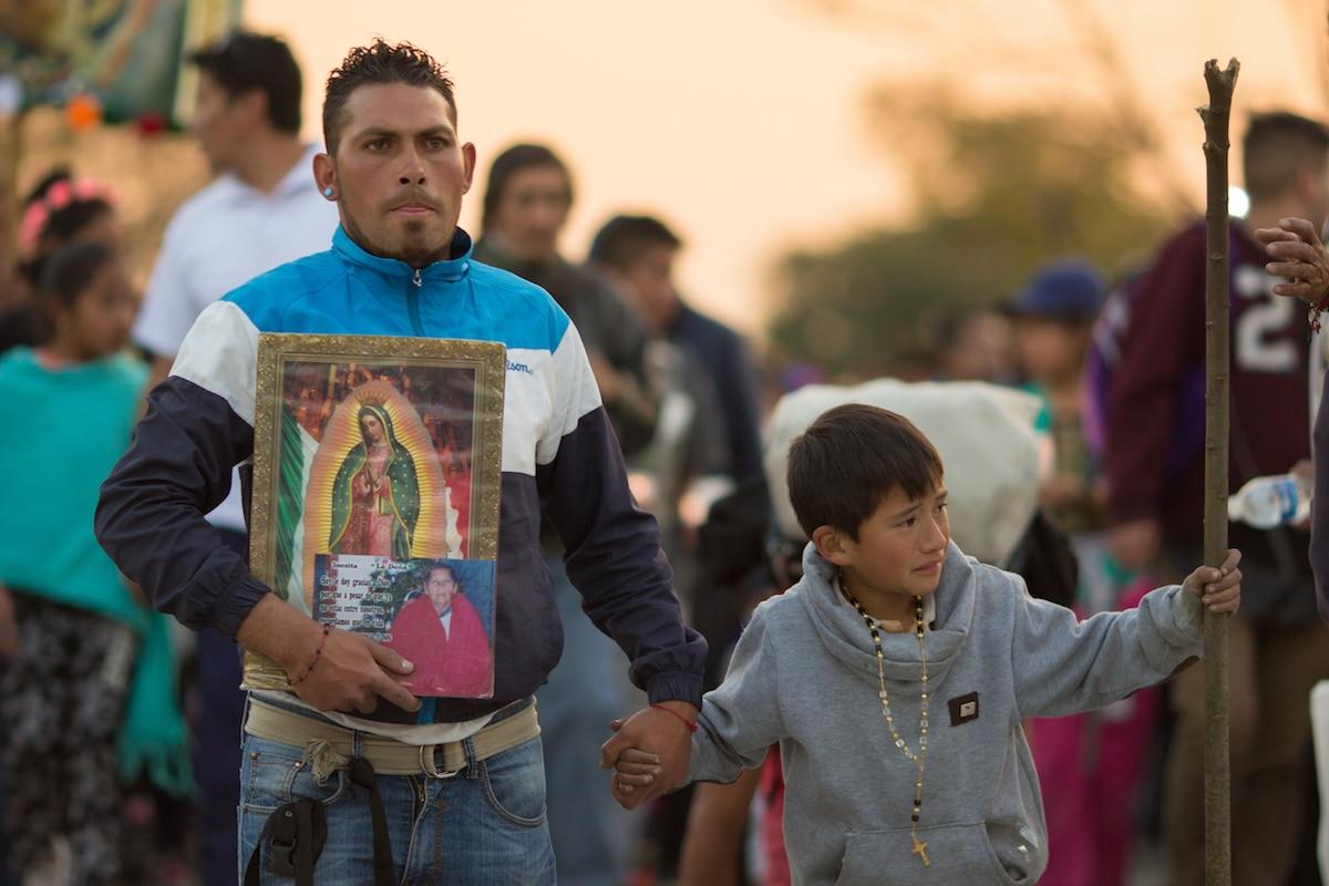 Celebración a la Virgen de Guadalupe el 12 de diciembre. Foto: María Langarica