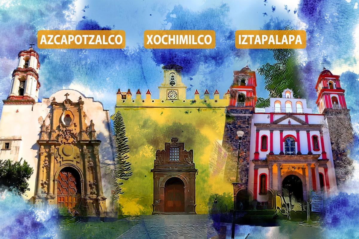 Las catedrales de las tres nuevas diócesis.