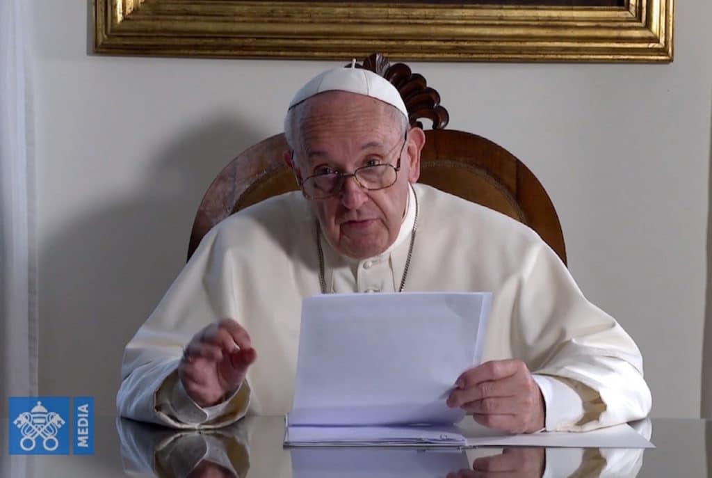 El Papa Francisco en videomensaje.