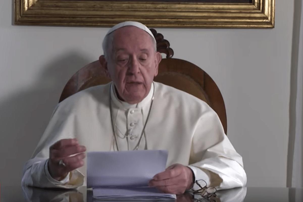 Mensaje del Papa Francisco a la Cumbre sobre el Clima. Foto: YouTube