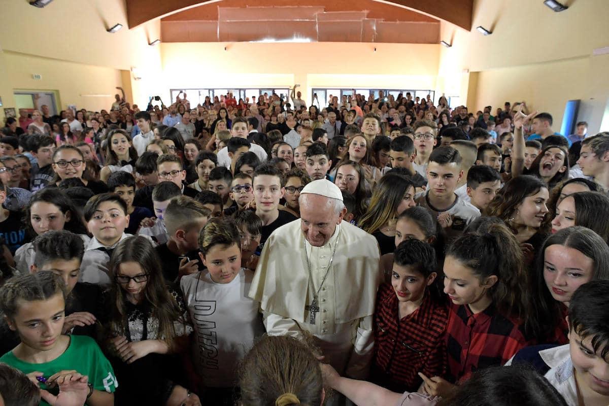 El Papa Visita La Escuela 'Elisa Scala' En Roma. Foto: Vatican Media