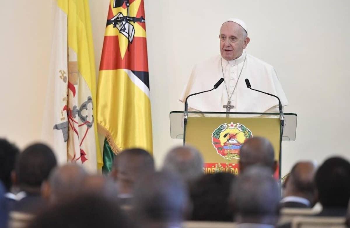 El Papa Francisco en su primer discurso en Maputo, capital de Mozambique. Foto: Vatican Media