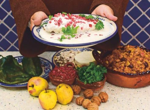 Receta de chiles en nogada, original de las monjas carmelitas