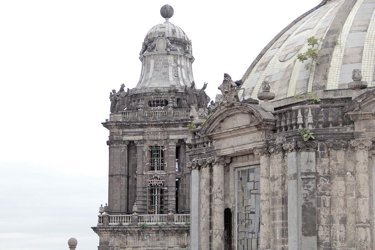 Daños en la Catedral Metropolitana. Foto: Vladimir Alcántara