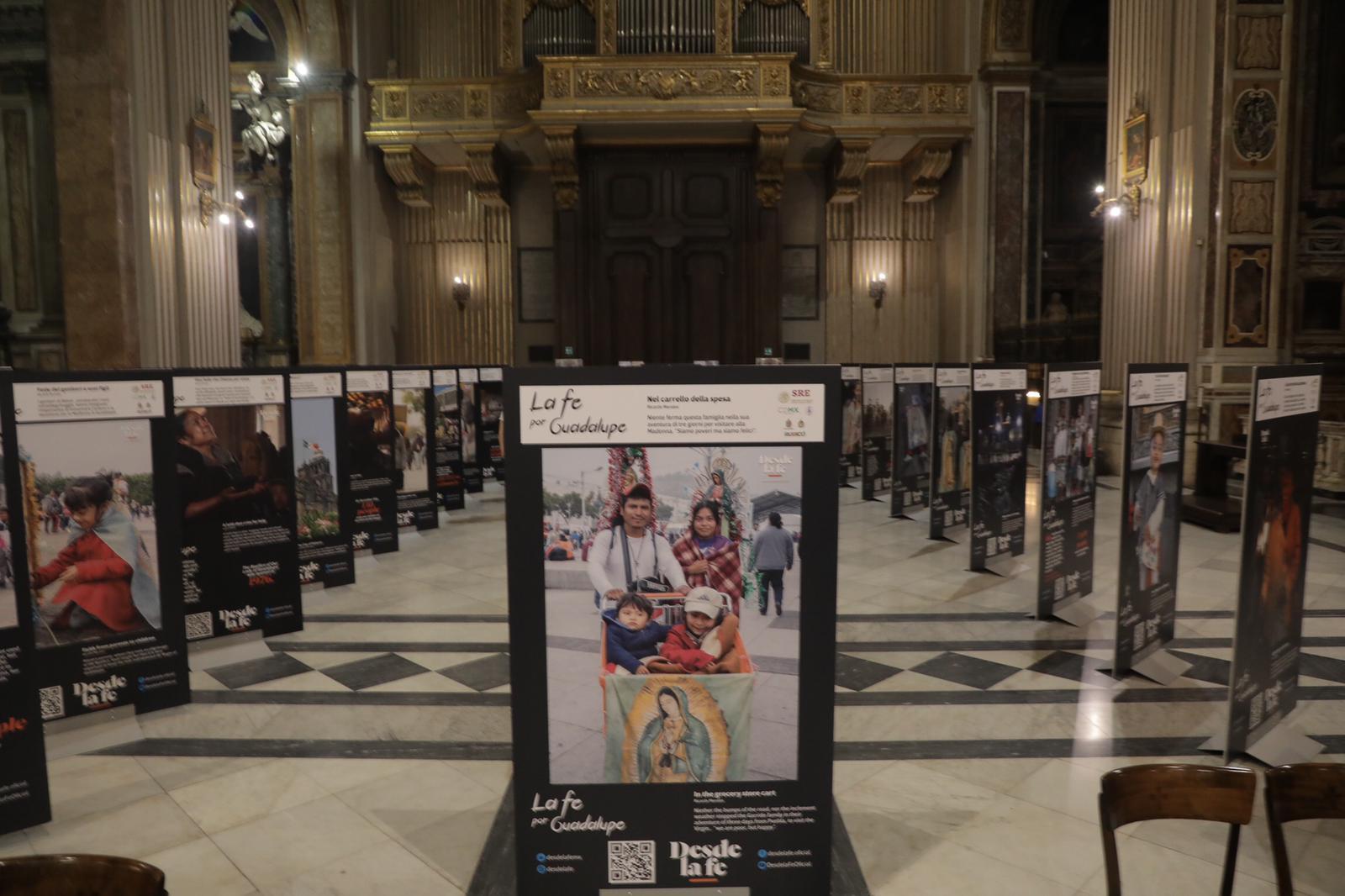 Exposición La fe por Guadalupe. Foto: Pablo Esparza