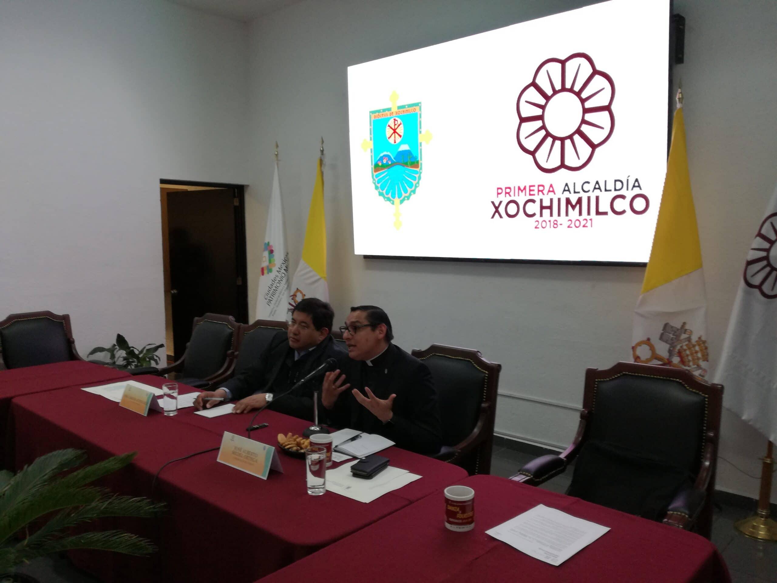 Conferencia de Prensa Xochimilco