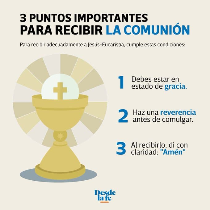 3 puntos importantes para recibir la comunión.