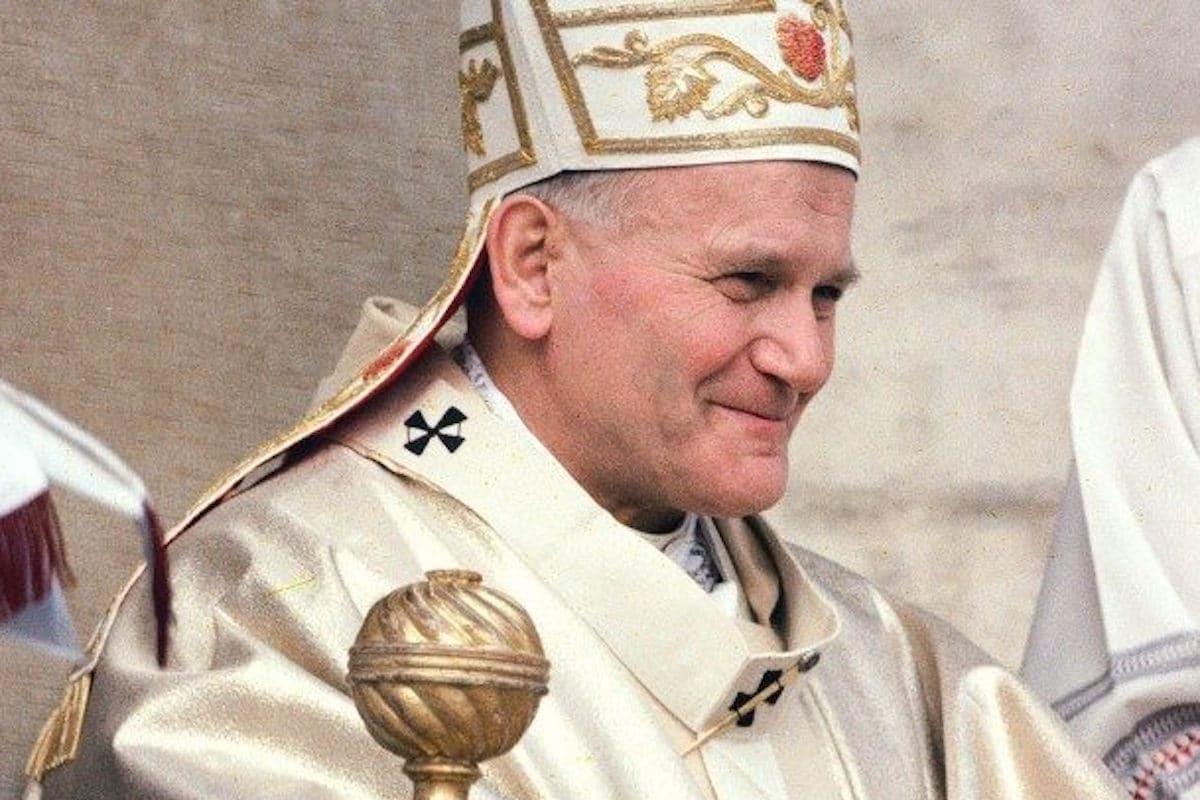 El Papa Juan Pablo II durante la misa por el inicio del su pontificado en 1978. Foto: Vatican Media