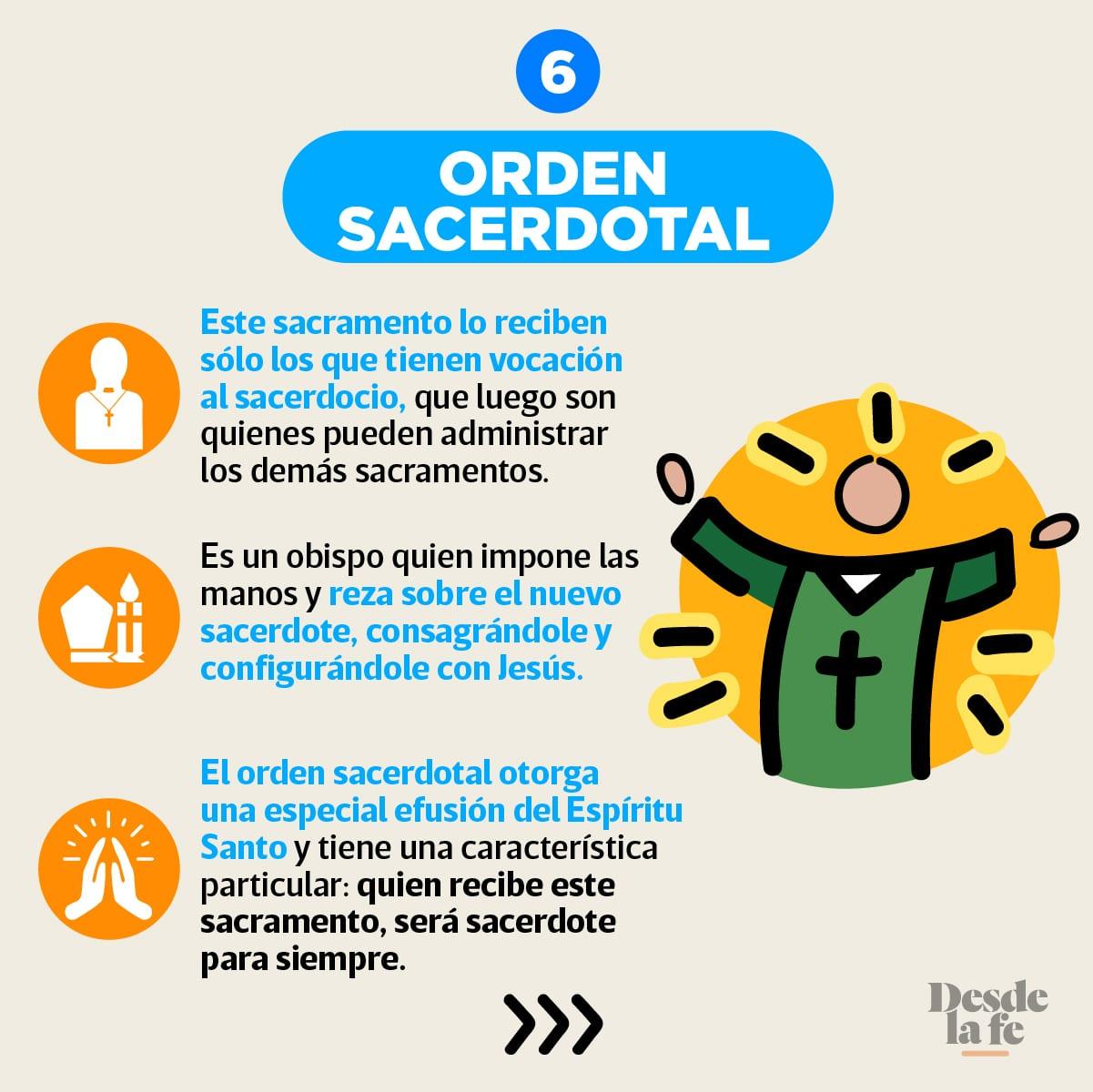 La Orden Sacerdotal es uno de los 7 Sacramentos de la Iglesia.