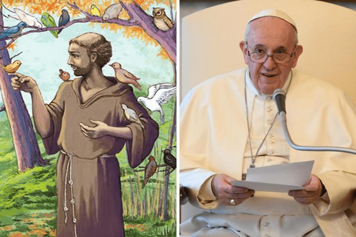 El Papa Francisco eligió su nombre por San Francisco de Asís.