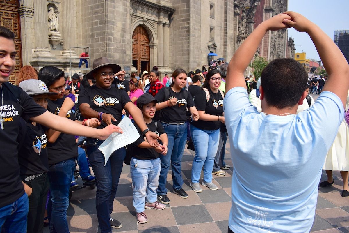 El rally de la Megamisión se llevó a cabo en el Centro Histórico de la Ciudad México. Foto: Ricardo Sánchez