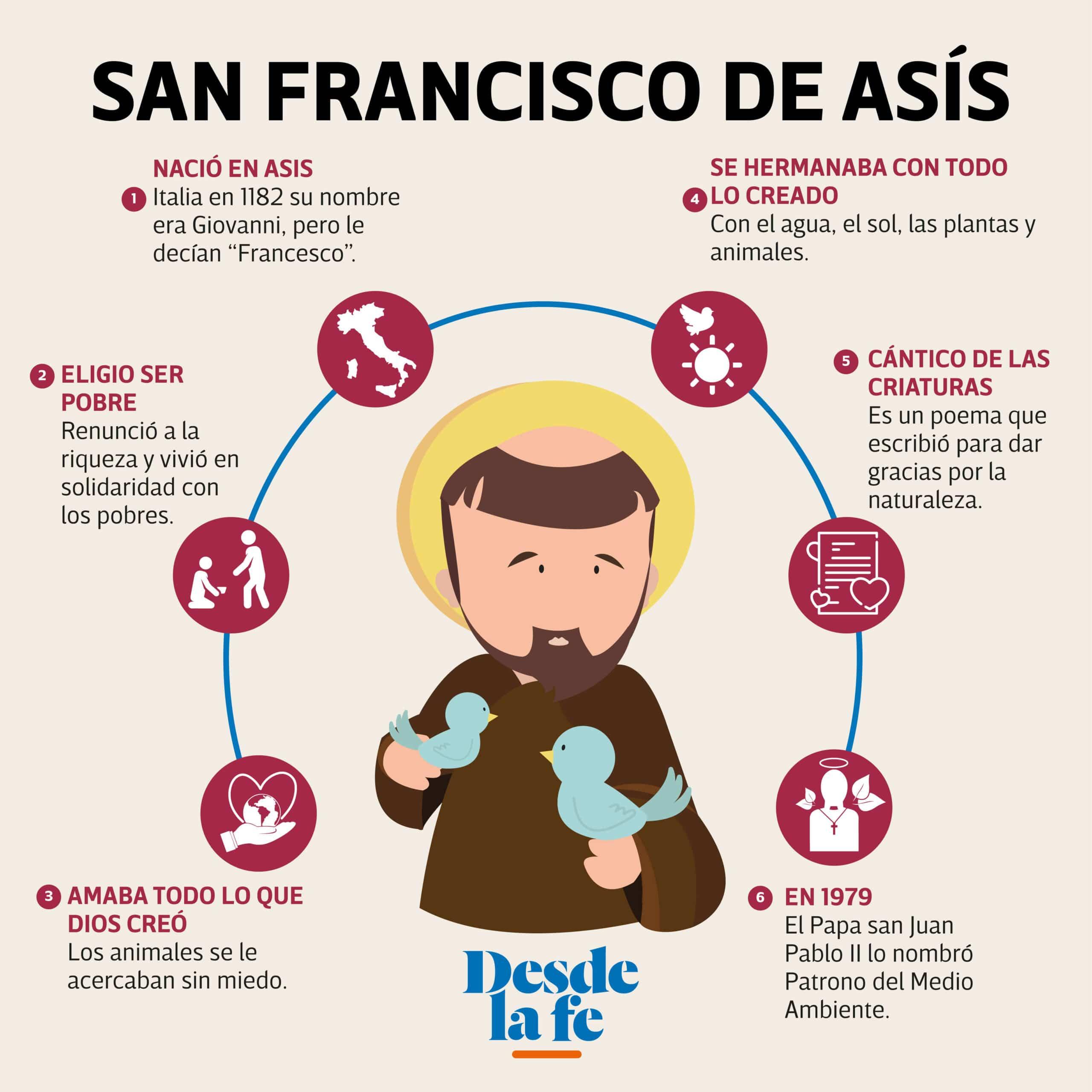 Conoce la vida y obra de San Francisco de Asís.