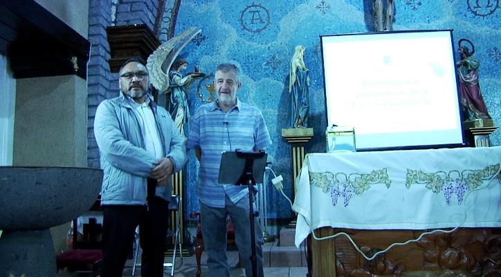 P. Victoriano Martínez y P. Miguel Ángel Saloma