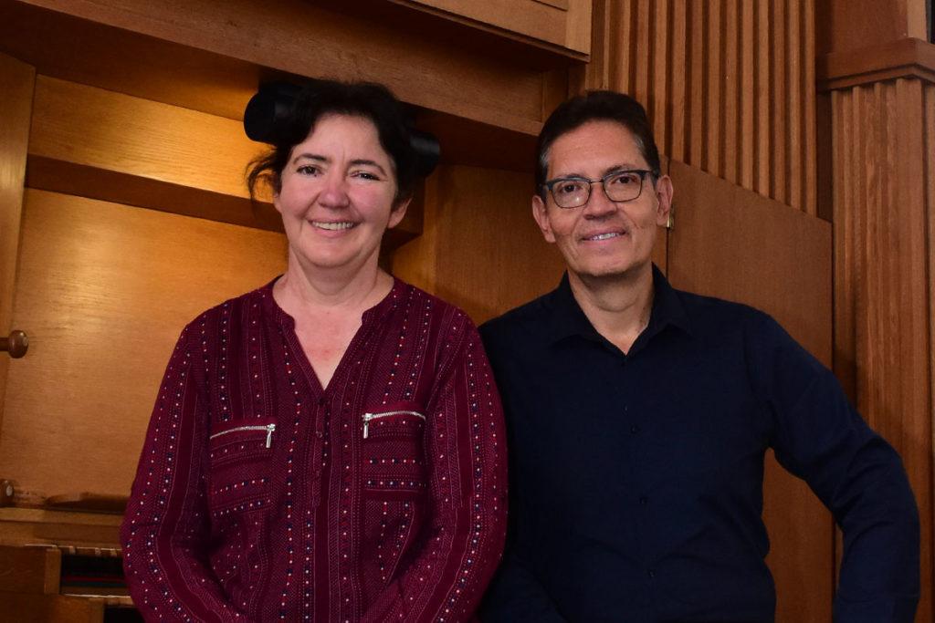 Maestros Ofelia Gómez y Gustavo Parra, organizadores del Festival. Foto Ricardo Sánchez