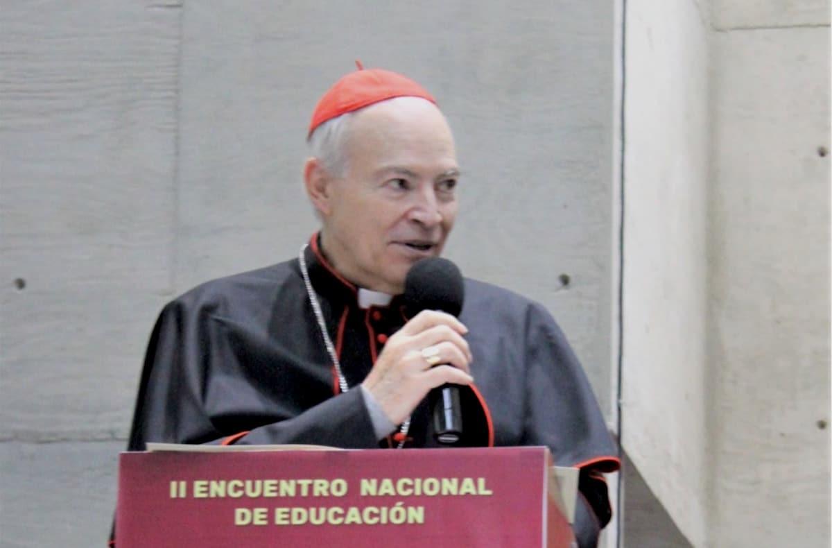 El Cardenal Carlos en el Encuentro Nacional de Educación. Foto: Universidad Pontificia de México