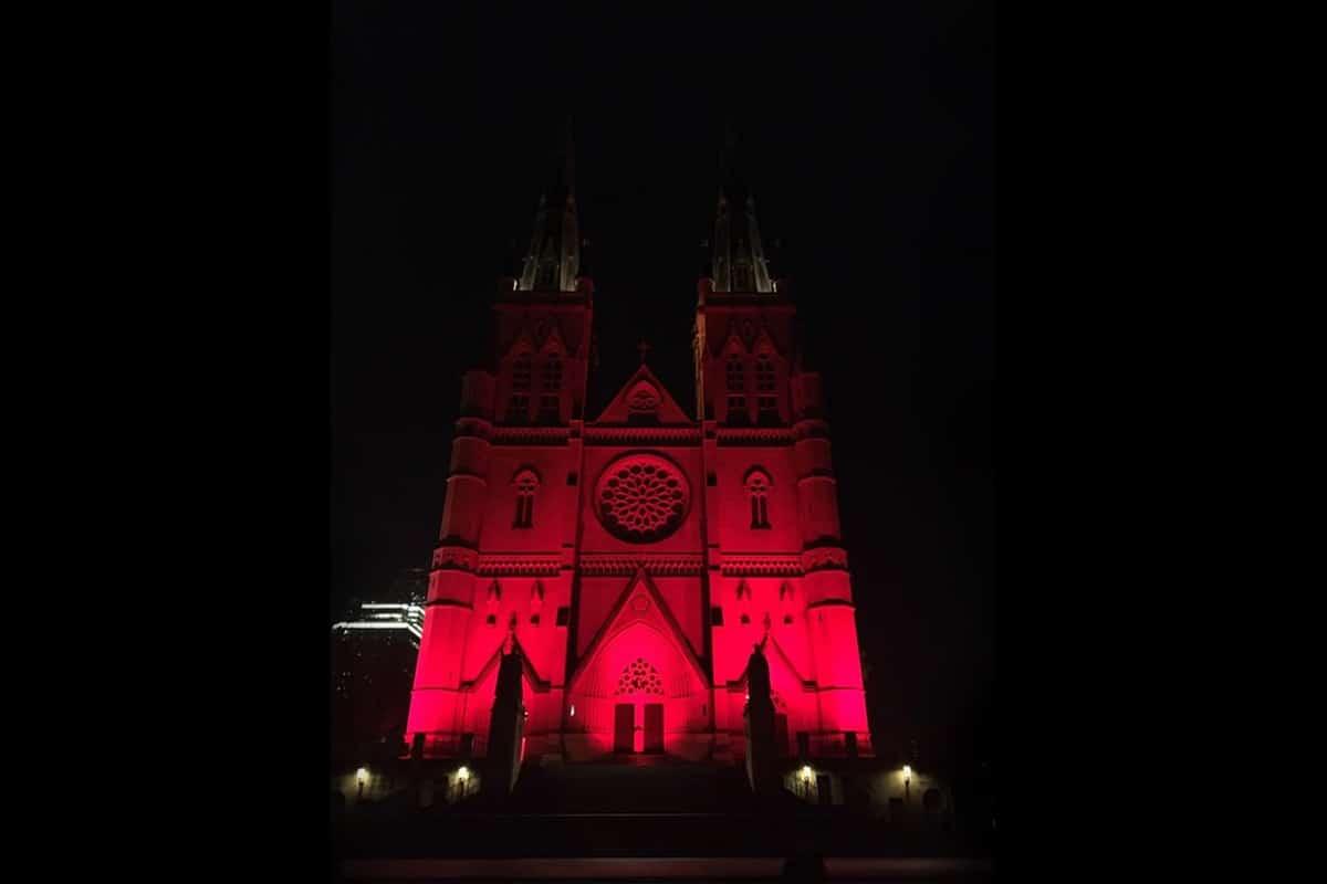 La Catedral de Santa María, en Sídney, Australia durante la Red Weekend 2019. Foto: Ayuda a la Iglesia Necesitada